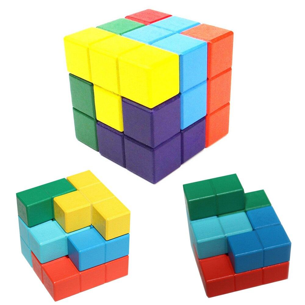 俄羅斯方塊 早教 益智玩具 木製魔術方塊 兒童玩具益智玩具 木製魔術方塊 88151
