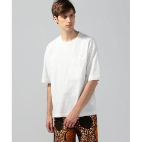 トゥモローランド ドライコットン ビッグポケットTシャツ メンズ 11ホワイト M 【TOMORROWLAND】