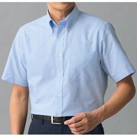 【メンズ】 形態安定ボタンダウンYシャツ(半袖) - セシール ■カラー:ブルー系 ■サイズ:LL,M,5L,4L,3L,L