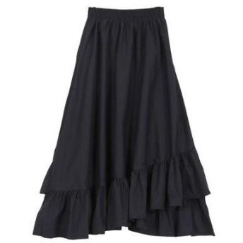 コウベレタス KOBE LETTUCE 裾切替えスカート [M2521] (ダークネイビー)