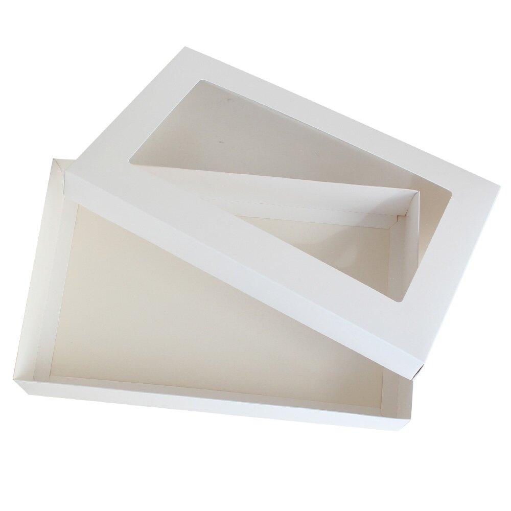 白底開窗天地盒 紙盒 禮盒 禮物盒 包裝盒 送禮包裝 88144(好窩生活節)