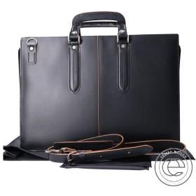 青木鞄 3703 枯淡コタン 2WAYショルダーブリーフケース ブラック メンズ