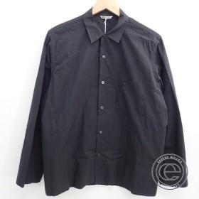 17SS AURALEEオーラリー A7SS01WC  SELVEDGE WEATHER CLOTH OPEN COLLARED SHIRTSオープンカラー 長袖シャツ/トップス4 INK BLACK メンズ