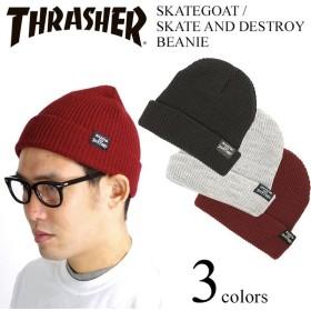 スラッシャー マガジン THRASHER ニットキャップ スケートゴート/スケートアンドデストロイ ビーニー (Skategoat / Skate And Destroy Beanie)