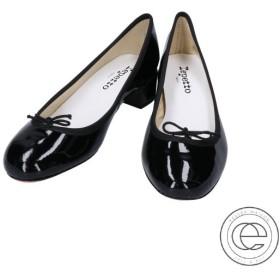 新品同様  Repetto レペット V511V Camille Ballerinas パテントレザー リボン バレエパンプス 36.5 ブラック レディース
