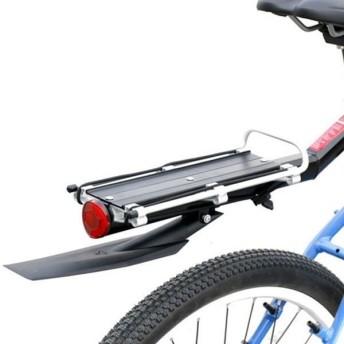 自転車用 泥除け付 リアキャリア 反射板付 荷台 ワンタッチ 簡単取付 マウンテンバイク ロードバイク ET-RYOBAI2