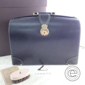 美品  土屋鞄 BD1801XB ブライドルレザー ダレスバッグ/ビジネスバッグ ノーブルブラック メンズ