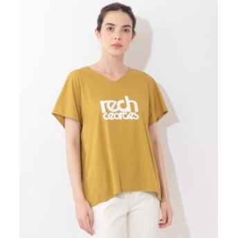 (GEORGES RECH/ジョルジュ レッシュ)【洗濯機OK】VネックロゴTシャツ/レディース イエロー 送料無料