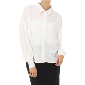 [アズールバイマウジー] ジョーゼットオーバーシャツ 250BSA30-407C レディース ホワイト FREE