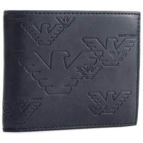 エンポリオアルマーニ EMPORIO ARMANI 財布 メンズ PVC 2つ折り財布 ネイビー YEM122-YH187-80468