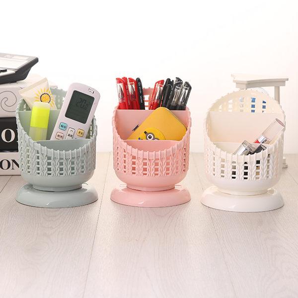 遙控器桌面筆筒收納盒書房書桌化妝品口紅眉筆分格收納筒學生 朵拉朵衣櫥