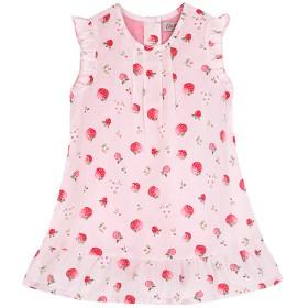 【0-3ヶ月】ベビー ドレス ウィズ ビルトインボディスーツ ストロベリーディッツィ