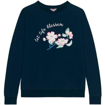 【S】コットン スウェットシャツ 刺繍付 レットライフブルーム プレースメント