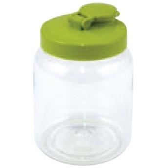 プラスチック製 果実酒びん 丸型 1.0L グリーン  高さ156(mm)/業務用/新品