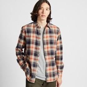 フランネルチェックシャツ(レギュラーカラー・長袖)