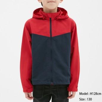 (GU)KIDS(男女兼用)マウンテンパーカ RED 130