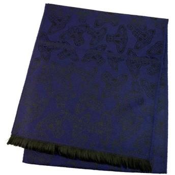 ヴィヴィアンウエストウッド Vivienne Westwood マフラー 54909032-24S32-P80 229 BLUE.CHINA