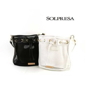 SOLPRESA(ソルプレーサ)メッシュ 2WAY バケットバッグ・SP161-A2-2741601・レディース