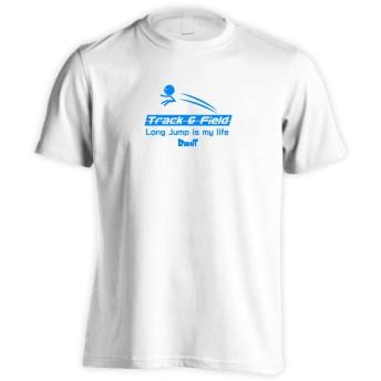 (リクティ) RikuT Long Jump is my life 半袖プレミアムドライTシャツ ホワイト L