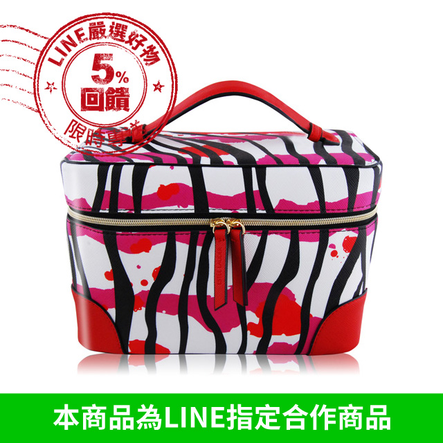ESTEE LAUDER 雅詩蘭黛 紅粉斑馬巧妝箱(大)(22.5X12.5X15.5cm)