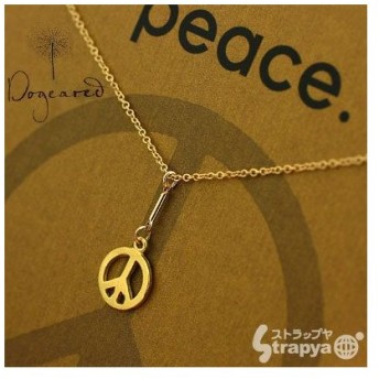 【Dogeared】ドギャードジュエリー Peace Y Necklace 20in fine Chain Gold Dipped ネックレス
