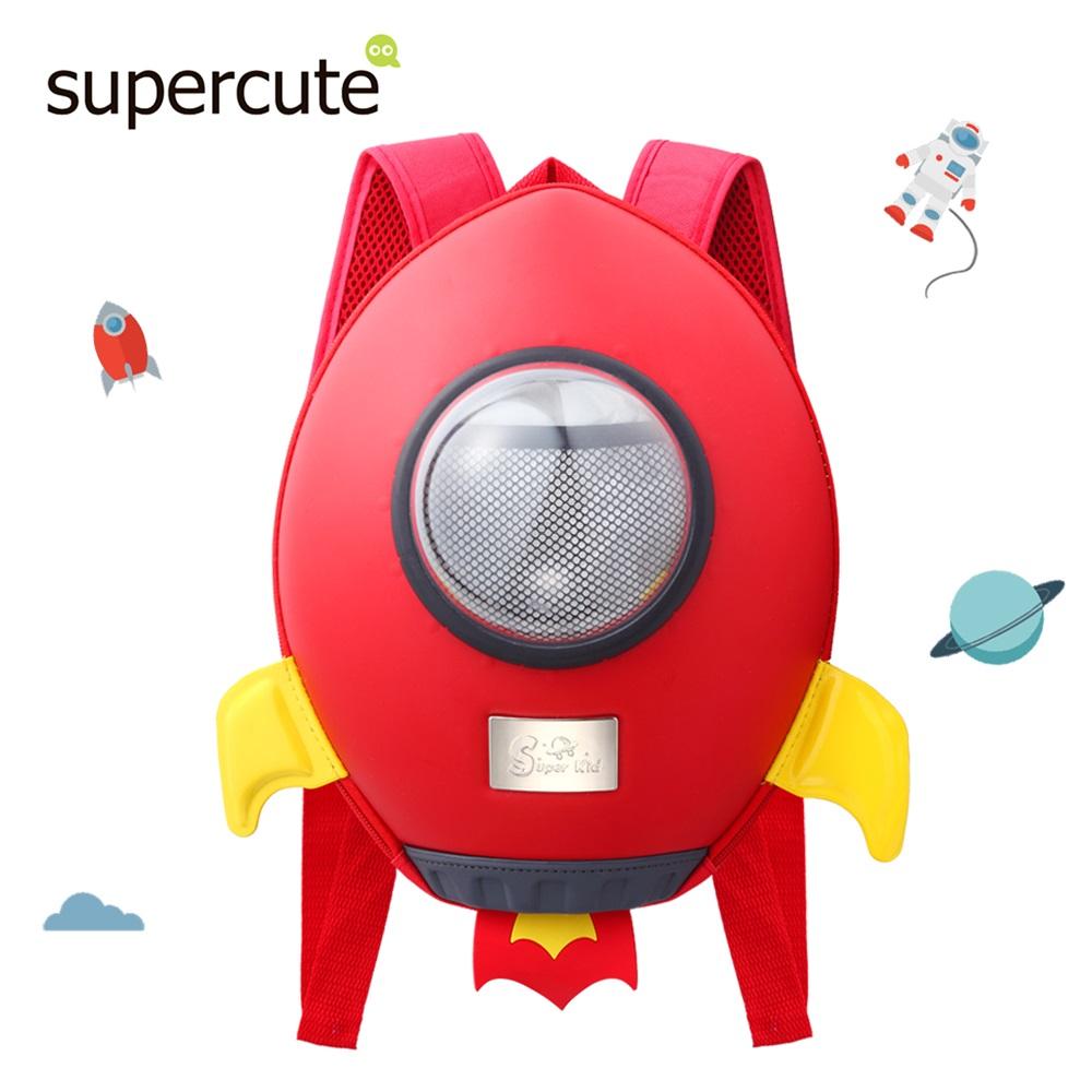 supercute 火箭造型後背包(炫紅)