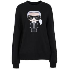 《期間限定 セール開催中》KARL LAGERFELD レディース スウェットシャツ ブラック XS コットン 100% IKONIK KARL SWEATSHIRT