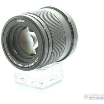 〔中古〕Panasonic(パナソニック) LUMIX G 42.5mm F1.7 ASPH POWER OIS ブラック (H-HS043-K)