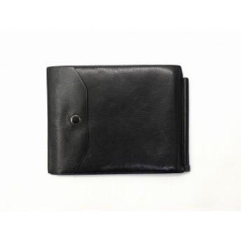【中古】ヴァレクストラ Valextra レザー マネークリップ 札入れ 財布 サイフ 黒 ブラック メンズ