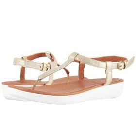 FitFlop(フィットフロップ) レディース 女性用 シューズ 靴 サンダル Tia Toe Thong Sandals - Pale Gold 9 M (B) [並行輸入品]