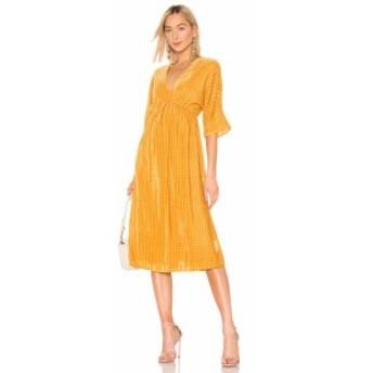 ハウスオブハーロウ1960 House of Harlow 1960 レディース ワンピース ワンピース・ドレス X REVOLVE Lex Dress Golden Yellow