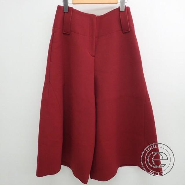 美品   CYCLASシクラス ウール キュロットスカート/ガウチョパンツ ボトムス 36 ダークレッド レディース