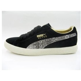 PUMA SOLEBOX CLYDE BLACK/METALLIC GOLD