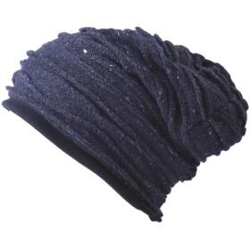 (カジュアルボックス) ニット帽 帽子 ニット オーガニックコットン ワッチ 男女兼用 EdgeCity フリーサイズ ネイビー