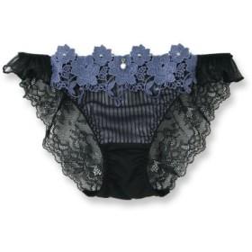 (fran de lingerie/フランデランジェリー)Elegance Rose エレガンスローズ コーディネートバックレースショーツ/レディース ブラック系1
