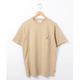 コーエン USAコットンベア刺繍ポケットTシャツ メンズ BEIGE S 【coen】