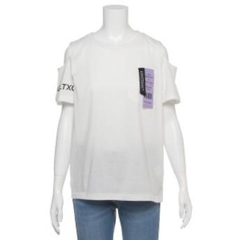 Lovetoxic ラブトキシック 肩開きネームポケットTシャツ