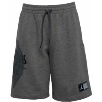 ジョーダン キッズ/ボーイズ ハーフパンツ Jordan Wings Futura Shorts スウェット Carbon Heather/Pacific Blue/White