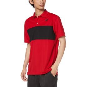 [ニューバランス] ポロ カラーブロックポロシャツ メンズ JMTT9154 チームレッド 日本 L (日本サイズL相当)