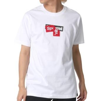 [ビーワンソウル] Tシャツ ボックス ロゴ プリント 半袖 メンズ ホワイト M