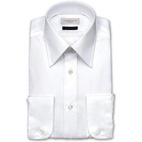 LORDSON CREST 綿100% 形態安定加工 スリム綿ツイル・レギュラーカラー・ドレスシャツ (zod002-100) 首周り:37 裄丈:82