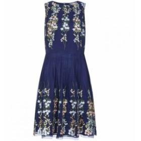 ユミ Yumi Curves レディース ワンピース ワンピース・ドレス Mirror Embroidery Dress Navy