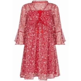 ユミ Yumi レディース ワンピース ワンピース・ドレス Abstract Floral Print Tunic Dress Red