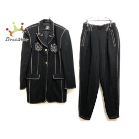 イタリヤ 伊太利屋/GKITALIYA レディースパンツスーツ サイズ9 M レディース 美品 黒×グレー 新着 20190721