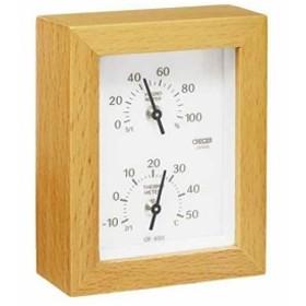 天然木 温度計・湿度計[CR-650W]