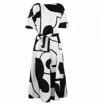マレーラ Marella レディース ワンピース ワンピース・ドレス Art 365 Waist Tie Dress NERO