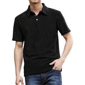 (アドミックス アトリエサブメン) ADMIX ATELIER SAB MEN メンズ ポロシャツ ランダム パイル 半袖 ポロシャツ 02-62-9784 48(M) ブラック