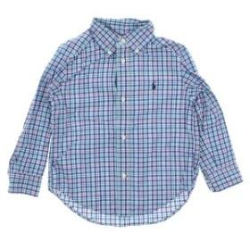 RALPH LAUREN  / ラルフローレン キッズ シャツ 色:青x白x緑等(チェック) サイズ:100