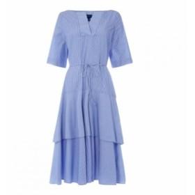 ガント Gant レディース ワンピース ワンピース・ドレス Pinstripe Midi Dress PERIWINKLE