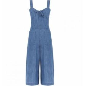 ウェアハウス Warehouse レディース オールインワン ワンピース・ドレス Tie Front Jumpsuit Denim Mid Wash